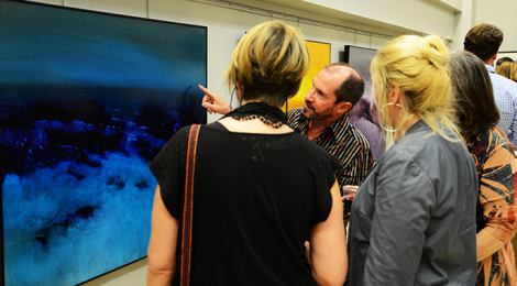 """Opening night of """"The Nature of Suggestion"""" by David Sites."""
