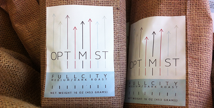 Start your day with Locally Roasted Optimist Coffee