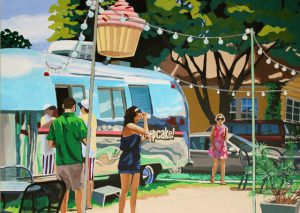 "Hey Cupcake! 30"" X 40"" acrylic on canvas $950"