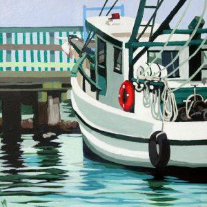 """Dock on the Bay 12"""" X 12"""" acrylic on canvas $200"""