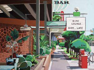 """Cactus Cafe 30"""" X 40"""" acrylic on canvas $495"""