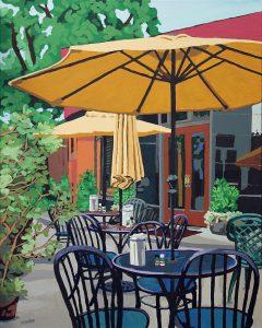 """Empire Cafe 30"""" X 24"""" acrylic on canvas $275"""