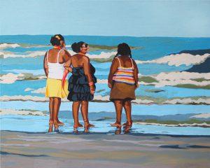 "Mocha Shouldered Ladies 18"" X 24"" acrylic on canvas $255"