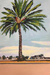 """61st Street Palm 24"""" X 18"""" acrylic on canvas $300"""