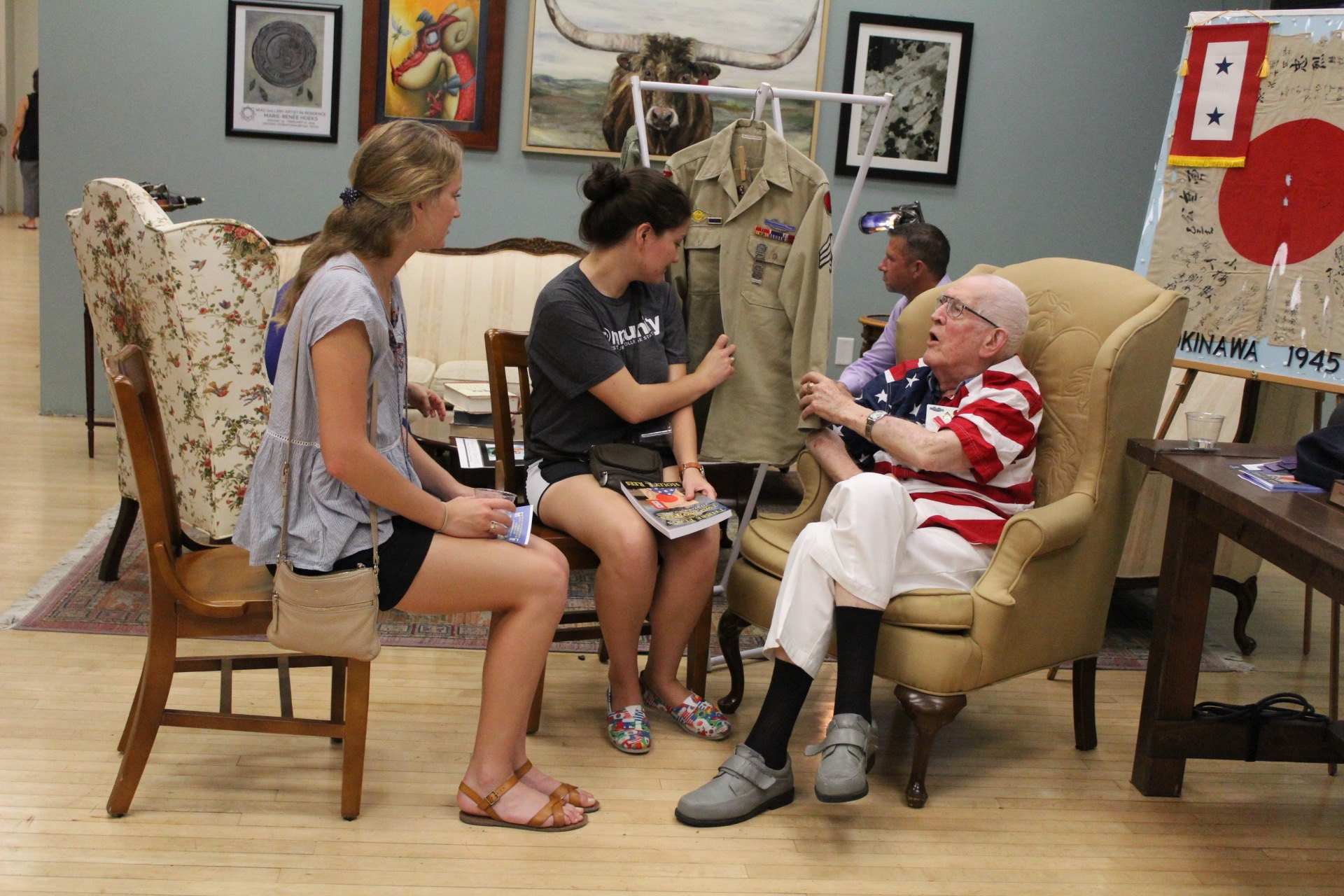 Holly Rees shares WWII stories at First Friday