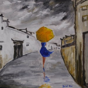 girl umbrella