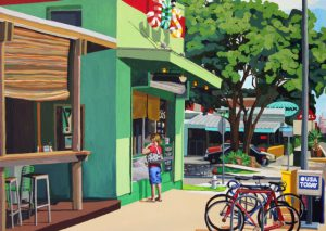 "Eat at Jo's 30"" X 40"" acrylic on canvas $950"