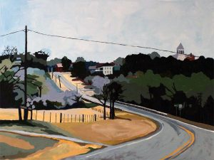 """Approaching Anderson 30"""" X 40"""" 2011 acrylic on canvas $495"""