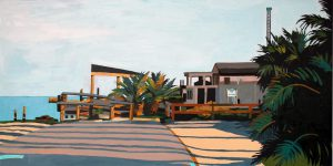 """Bay Park 24"""" X 48"""" acrylic on canvas $745"""