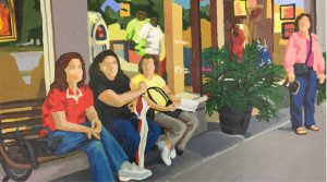 "West 19th 12"" X 16"" acrylic on canvas $165"