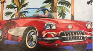 """Beach Buggy 16"""" X 20"""" acrylic on canvas $275"""