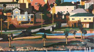 "Kemeh from the Bridge 16"" X 20"" acrylic on canvas $275"
